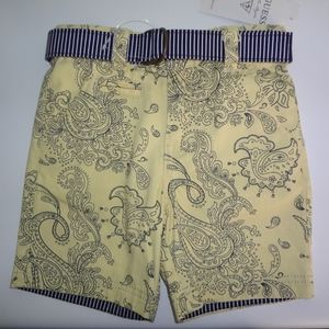 NWT Guess Boys Shorts + Belt Size 3T